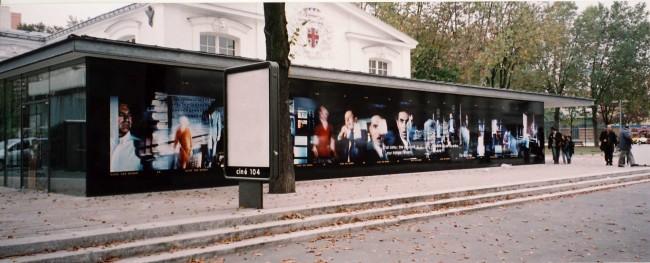 2006 - TTTRRRR#1 (Série Hitchcock) Installation in situ Ciné104 à Pantin en novembre 2006