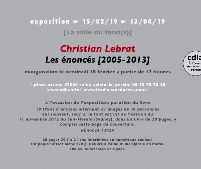 invitation christian lebrat